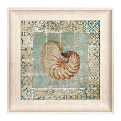 Shell Tiles II Framed Art Print