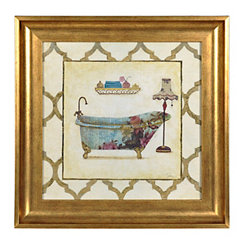 Botanical Bath Framed Art Print