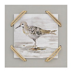 Sand Piper I Wrapped Rope Wall Plaque