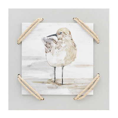 Sand Piper II Wrapped Rope Wall Plaque