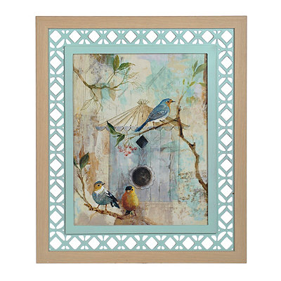 Rustic Lattice Birdhouse I Framed Art Print