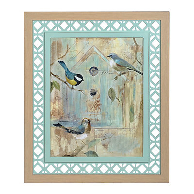 Rustic Lattice Birdhouse II Framed Art Print