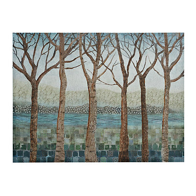 Patchwork Forest Canvas Art Print