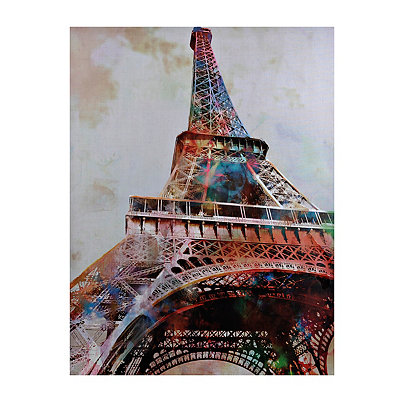Eiffel Tower in Color Canvas Art Print