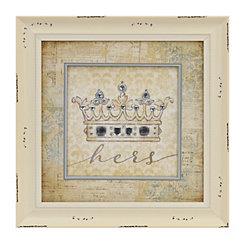 Hers Jeweled Crown Framed Art Print