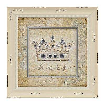 Hers Jeweled Crown Framed Art Print