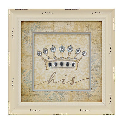 His Jeweled Crown Framed Art Print