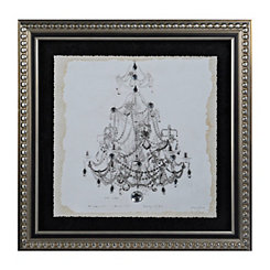 Jeweled Elegant Chandelier I Framed Art Print