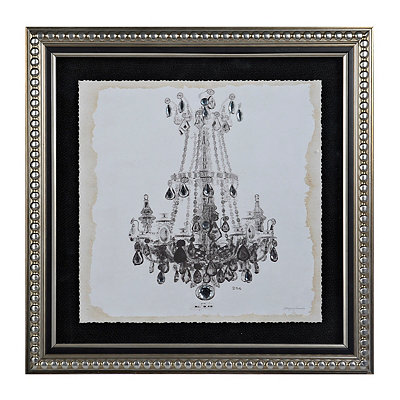 Jeweled Elegant Chandelier II Framed Art Print