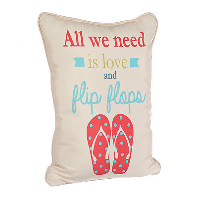 Love and Flip Flops Pillow