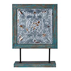 Rustic Blue Decorative Square Finial
