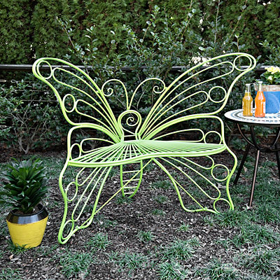 Green Butterfly Metal Chair