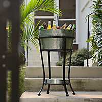 Galvanized Drink Cooler on Stand