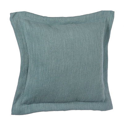 Solid Aqua Flange Pillow