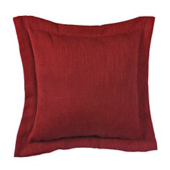 Solid Red Flange Pillow