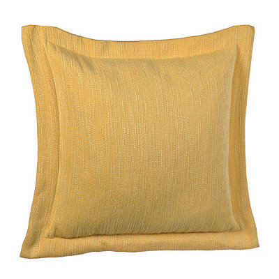 Solid Yellow Flange Pillow