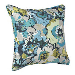 Blue and Green Garden Pillow