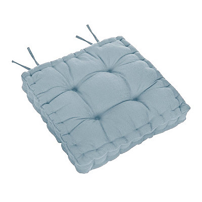 Aqua Tufted Chair Pad