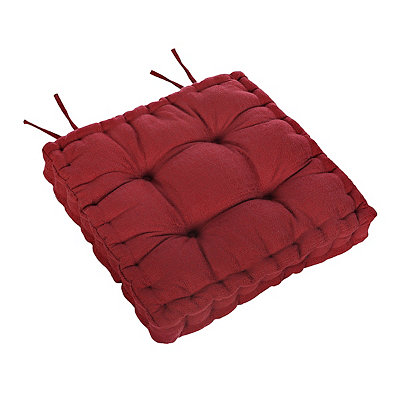 Red Tufted Chair Pad