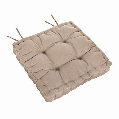 Tan Tufted Chair Pad
