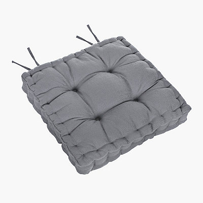 Gray Tufted Chair Pad