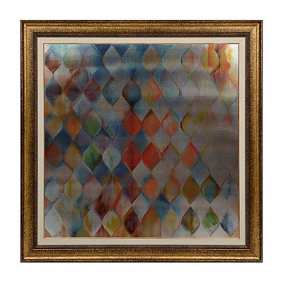 Metallic Water Drops Framed Art Print