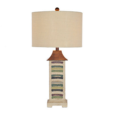Colorful Coastal Shutter Table Lamp
