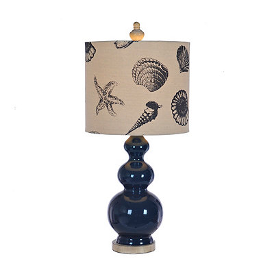Navy Shell Table Lamp