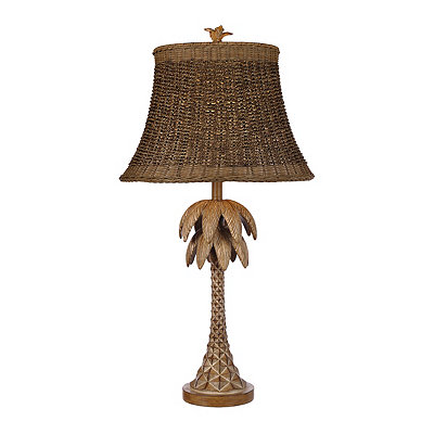 Refreshed Palm Tree Table Lamp