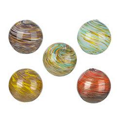 Glass Swirl Orbs, Set of 5