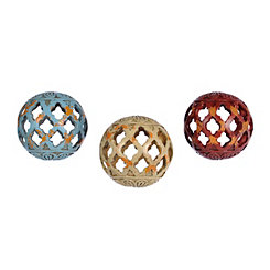 Open Quatrefoil Orbs, Set of 3