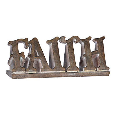 Rustic Brown Faith Statue