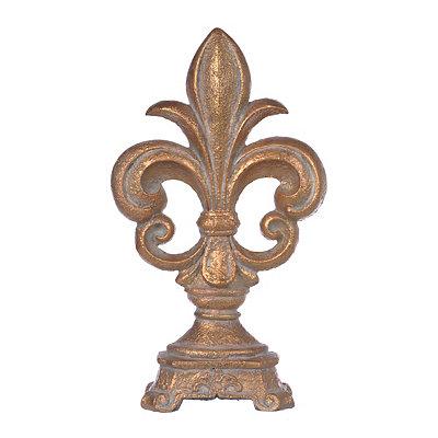 Bronze Glow Fleur-de-lis Finial