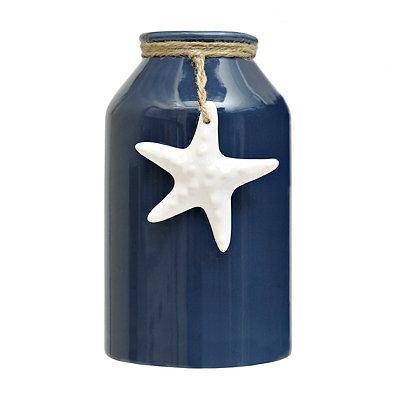 Starfish Charm Navy Vase