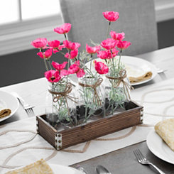 Mason Jar Vase Runner Set