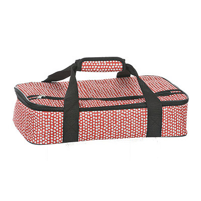 Red and White Petals Casserole Tote