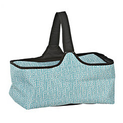 Turquoise and White Dots Picnic Tote