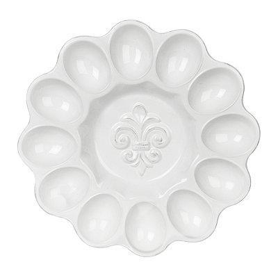 Fleur-de-lis Egg Plate