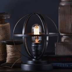 Vintage Metal Sphere Lamp