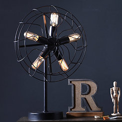 Edison Fan Table Lamp