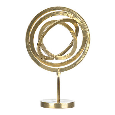 Gold Globe Gyroscope Statue