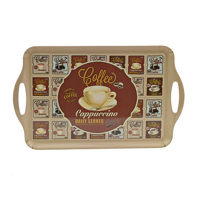 Vintage Cappuccino Serving Tray