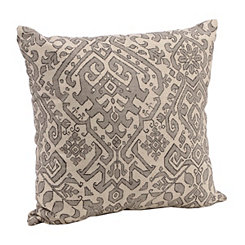 Taupe Aztec Tile Pillow