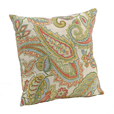 Green Paisley Leaf Pillow