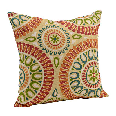 Orange and Red Suzani Pillow
