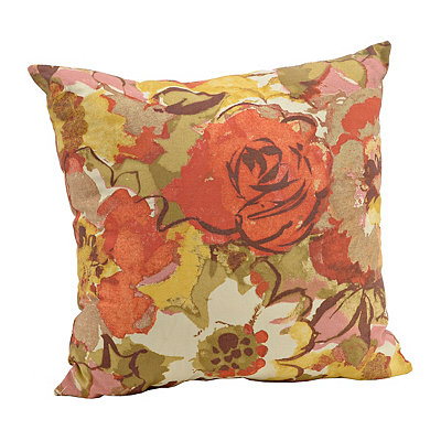 Warm Floral Watercolor Pillow