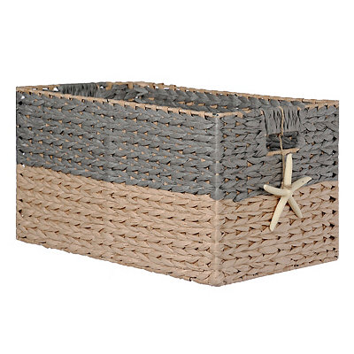 Woven Basket with Starfish Charm, Large