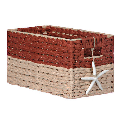 Woven Basket with Starfish Charm, Small