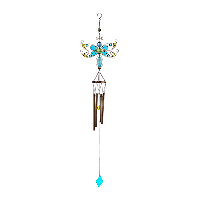 Glass Dragonfly Wind Chime