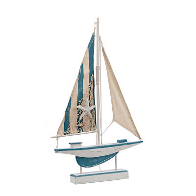 Light-Up Sailboat Statue